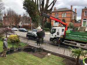 Lifting in a ton weighted Osmanthus - Northbrook Road