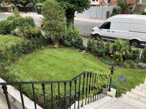 Finished front garden from the top of the main stairs - Northbrook Road