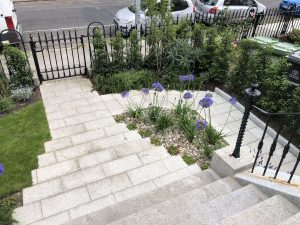 Finished front garden from the top of the stairs - Northbrook Road